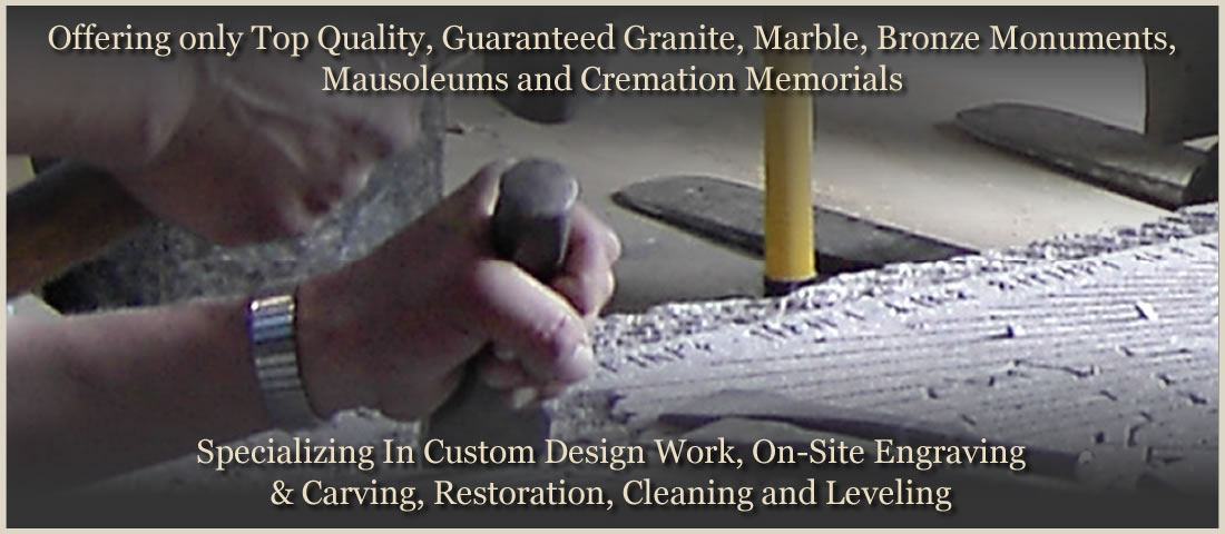 Mathewson Monuments of New London Wisconsin | Grave Markers New London | Granite Monuments | Bronze Monument | Marble Monuments | Mausoleums | Cremation Memorials